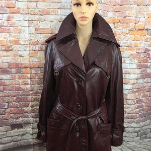 Vintage Etienne Aigner Vintage Leather Trench